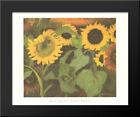 Sunflowers 18x15 Black Wood Framed Art Print by Emil Nolde