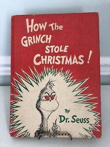 Vintage Book - How The Grinch Stole Christmas By Dr Seuss - 1st Edition - 1957