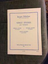 Jacques Delécluse Vingt études pour xylophones partition éditions Leduc