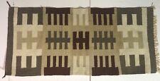 VTG Navajo Native American Textile Woven Rug Gallup Throw Cross Pattern 41x19