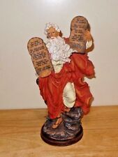 Vintage Ten Commandments Statue Figurine Moses Religious Resin Tall