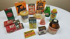 1960s Household Cleaning Lot Tide, Spic & Span, Energine, Bon Ami, m-e Cleaner