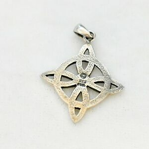 """Sterling PSCL Peter Stone Celtic Pendant 1.25"""" 3.4G"""