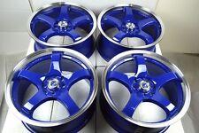 17 blue wheels rims Civic Cooper Cabrio Accord Cobalt Sonata Camry 4x100 4x114.3
