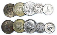 USA Lotto di 5 monete in argento da Quarter e Half Dollar con 25 Cents 1894 O