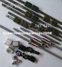 6 Linear guide rail carriages ,3 Ball screws Kits with DOUBLE BALLNUT for CNC
