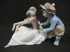 More details for lladro for me? figurine #5454 - boy and girl - glossy finish - retired 1998