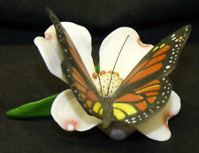 Vintage 1985 Franklin Mint Butterflies of the World Monarch on Flower Fp 85
