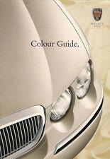 Rover 75 Saloon Exterior Colours 1999-2000 UK Market Sales Brochure