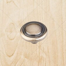 """Cabinet Hardware Ring Knobs kd02 Antique Brass 1-1/4"""" pull"""
