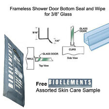 "Shower Door Dual Durometer PVC Seal & Wipe 3/8"" Glass - 32"" long w/ Bioelements"