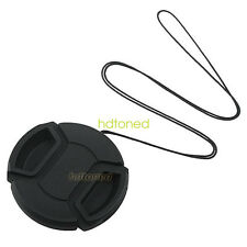 58mm Center-pinch Snap-on Front Lens Cap for Canon E-58 II DSLR 58 mm