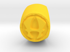 """THE MIGHTY HERCULES"" 1960's REPLICA RING - Yellow Plastic - See Feedback!!"