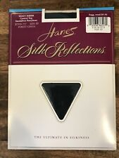 HANES Silk Reflections Silky Sheer Control Top Pantyhose Sz EF - Forest Green
