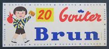BUVARD BISCUIT BRUN blotter Löscher