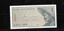 INDONESIA #90A 1964 UNUSED -MINT OLD VINTAGE SEN BANKNOTE BILL NOTE PAPER MONEY