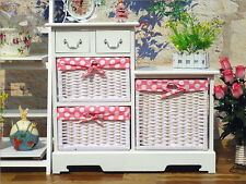 Cabinet 5 Storage Box Drawers Basket Shelf Cupboard Bedroom Baby White Large