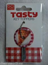 j TASTY PIZZA COVER A KEY keychain CAP identifier organizer accessory topper