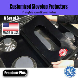 GE Gas Stove Protectors, Custom cut to fit your Stove, Lifetime Warranty