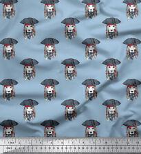 Soimoi Beagle-Hundegesichts-Poly Satin Fabric Material 105 Gsm Breite Meter
