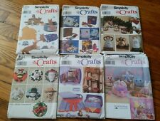 Lot of 6 Holiday Christmas Easter Craft Patterns Simplicity UNCUT brand new RARE