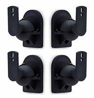 Mount-It! Speaker Wall Mount Full Motion Brackets For Surround Sound Speakers