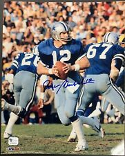 Roger Staubach Signed Dallas Cowboys 8x10 Photo Autographed GA Authenticated
