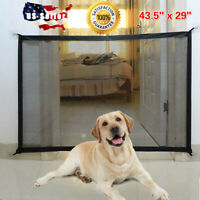 Pets Dog Cat Baby Safety Gate Mesh Fence Magic Portable Guard Net Stairs Doors