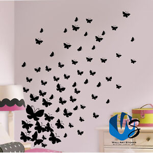 Various size Butterfly wall Art Stickers vinyl wall decals room for baby nursery