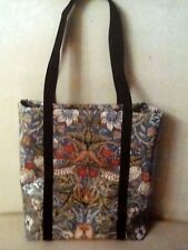 WILLIAM MORRIS STRAWBERRY THIEF PVC  Tote Bag handcrafted
