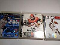 PS3 Sports Lot: NCAA College Football 10 NBA Basketball 2K8 MLB 10 PLAYSTATION 3
