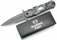 Snake Eye Tactical Two Tone Pearl Designed Handle Assisted Open Folding KNIFE
