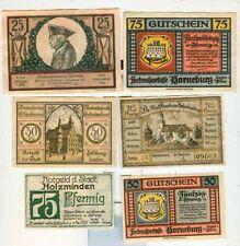 Notgeld:Holzminden,Hildburghausen,Horneburg2x,