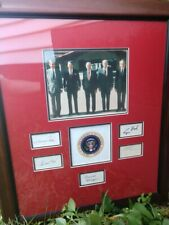 Framed Autographs and Photos of Five Presidents (Authentic)