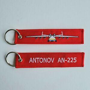 Flight Tag Antonov An-225 Keyring Keychain Red Baggage Luggage Label