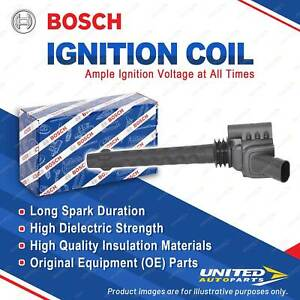 1 x Bosch Ignition Coil for Fiat 500C 312 Punto 199 Ritmo 198 1.4L 2007-2014