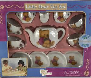 CHILD's LITTLE BEAR  PORCELAIN TEA SET Box 13 Pc Set PreOwned