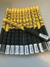 13 x GOLF PRIDE NEW DECADE® MULTI COMPOUND CORD STANDARD GOLF GRIPS YELLOW/BLACK