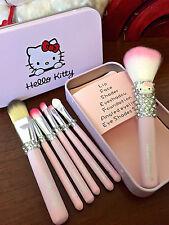 Bling Hello Kitty Crystal Diamond MINI Makeup Brush Set! A Set of 7! Best Gift