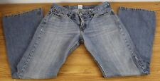 "Lucky Brand Size 8 Faded Flare Denim Blue Jeans Size 8 - 29"" Inseam"