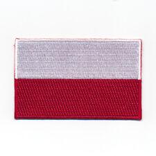 80 x 50 mm Polen Warschau Flagge Polska Poland Patch Aufnäher Aufbügler 1099 X