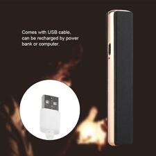 Windproof Rechargeable Cigarette Lighters USB Electric Battery Flameless Lighter