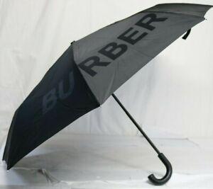 *NEW* Burberry Kingdom Print Folding Umbrella, Black 8010351 1