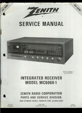 Factory Zenith MC 6060-1 AM FM Stereo Cassette Receiver Service Manual