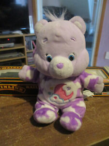 Care Bears PJ Party Special Edition SWEET DREAMS Bear Purple White Plush Doll