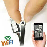 wireless IP Network WIFI Pinhole SPY nanny screw camera mini DIY micro dvr NEW
