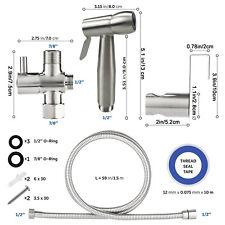 Handheld Bidet Stainless Steel Bidet Shower Head Diaper Toilet  Sprayer Set