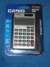 Casio SL300SV 8-Digit LCD Solar & Battery Powered Large Display Calculator,New!