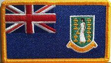 Islas Vírgenes Británicas Bandera Plancha Patch Militar Emblema Dorado Borde