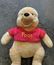"Winnie The Pooh Bear 16"" Plushie  Disney store authentic"